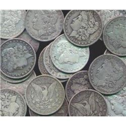 20 Assorted Date Morgan Silver Dollars