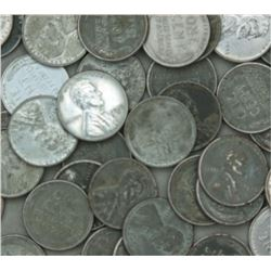 Lot of (100) Steel WW II Cents
