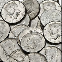 Lot of  50 Kennedy half Dollars 90% Silver