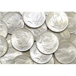 (20) 1922-23 BU Peace Dollars
