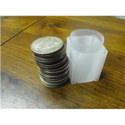 Roll of 20 Peace Silver Dollars