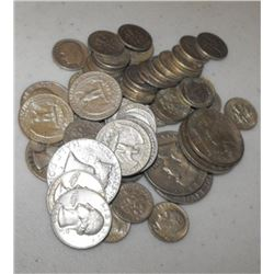 Lot of $5 FACE 90% Silver Coinage