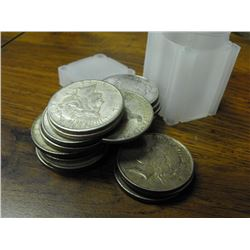 Lot of (20) Peace Silver Dollars - ag-vg - in tube