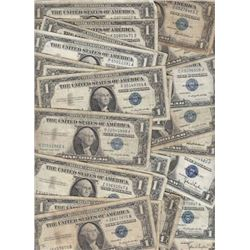 Lot of 100 SIlver Certificates Circulated