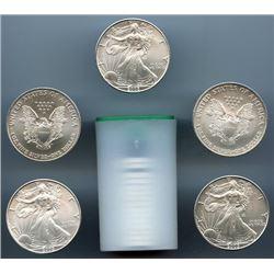 (20) Silver US Eagles - Mint Tubed