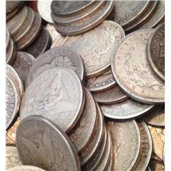 (20) Morgan Silver Dollars - ag-au- Mixed Dates
