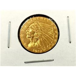 1912 $ 2.5 Gold Indian