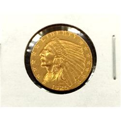 1925 Weak D $ 2.5 Gold Indian