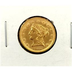 1852 Better Date $ 2.5 Gold Liberty