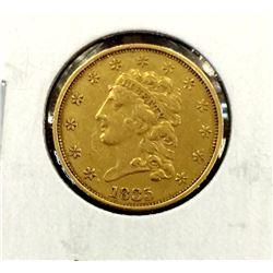 RARE 1835 $2.5 Classic Head Gold Coin