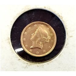 1853 $ 1 Gold Liberty Type I