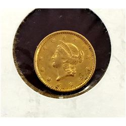 1852 $ 1 Gold Liberty Type I