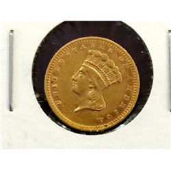 Civil War Era 1862 Princess $ 1 Gold RARE