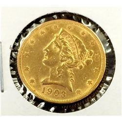 1903 S $5 Gold Liberty