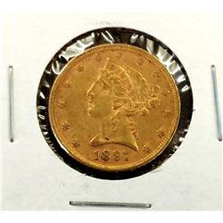 1897 $ 5 Gold Liberty