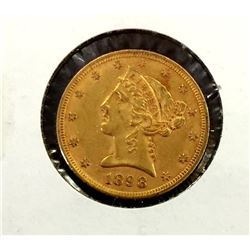 1898 $ 5 Gold Liberty