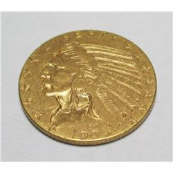 1909 $ 5 Gold Indian Coin