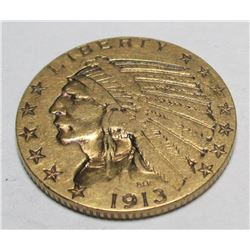 1913 P $ 5 Gold Indian