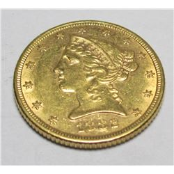 1882 P $5 Gold Liberty