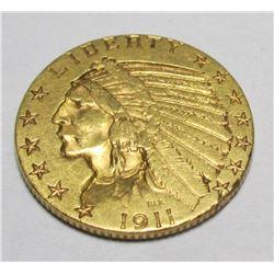 1911 P $ 5 Gold Indian