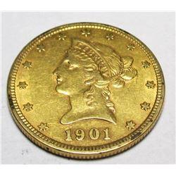 1901 P $ 10 Gold Liberty