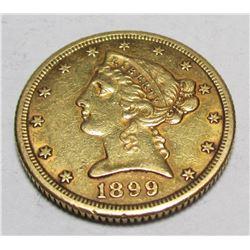 1899 s $ 5 Gold Liberty
