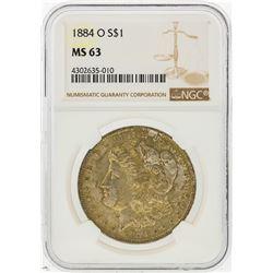 1884-O $1 Morgan Silver Dollar NGC Graded MS63
