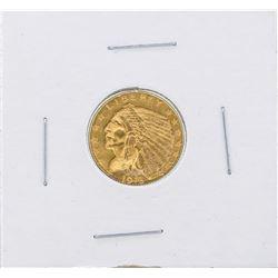 1913 $2 1/2 Indian Head Quarter Eagle Gold Coin Choice AU