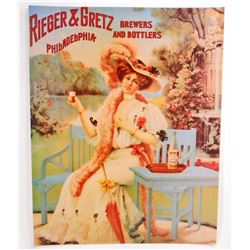 RIEGER & GRETZ BREWERS & BOTTLERS ADVERTISING POSTER PRINT