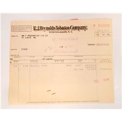 LOT OF VINTAGE R J REYNOLDS TOBACCO COMPANY BILL HEADS / INVOICES