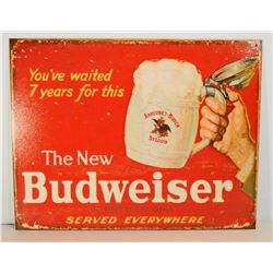 BUDWEISER ADVERTISING METAL SIGN