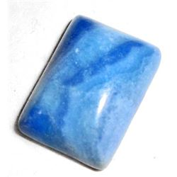 12.5 CT BLUE AGATE GEMSTONE OCTAGON CABOCHON