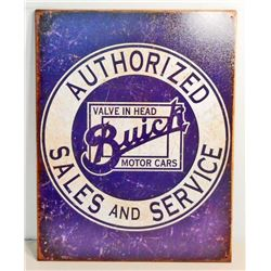 BUICK AUTOMOTIVE SALES & SERVICE ADVERTISING METAL SIGN