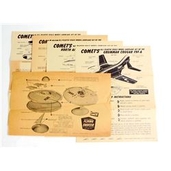 LOT OF 5 VINTAGE LINDBERG MODEL INSTRUCTION SHEETS