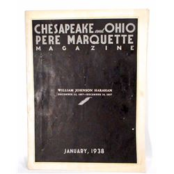 1938 CHESAPEAKE & OHIO PER MARQUETTE RAILROAD MAGAZINE
