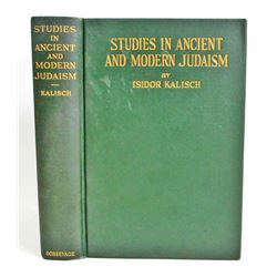"1928 ""STUDIES IN ANCIENT AND MODERN JUDAISM"" HARDCOVER VINTAGE BOOK"