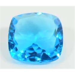 20.3 CT BLUE QUARTZ CUSHION CUT