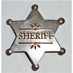 OLD WEST STYLE SHERIFF BADGE