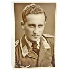 NAZI GERMAN LUFTWAFFE SOLDIER REAL PHOTO POSTCARD POSTCARD