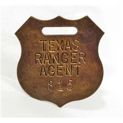 TEXAS RANGER AGENT WATCH FOB