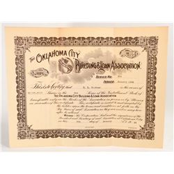 VINTAGE 1924 OKLAHOMA CITY BUILDING & LOAN ASSOC. STOCK CERTIFICATE