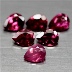 LOT OF 4.77 CT OF PURPLISH PINK AFRICAN RHODOLITE GARNETS