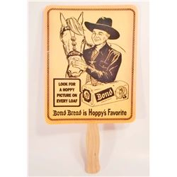 HOPALONG CASSIDY BOND BREAD ADVERTISING FAN