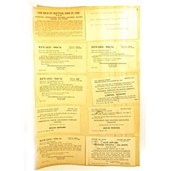 LOT OF 18 VINTAGE 1925 REWARD & STOLEN VEHICLE POSTCARDS