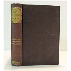 """1894 POPULAR EDITION """"CHARLES DICKENS WORKS"""" HARDCOVER BOOK"""