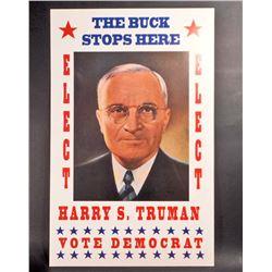 HARRY S TRUMAN DEMOCRAT ELECTION POSTER PRINT