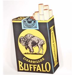 BUFFALO DIE CUT PAPER STORE ADVERTISING POSTER PRINT