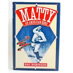 """MATTY AN AMERICAN HERO"" HARDCOVER BOOK"