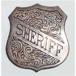 OLD WEST STYLE SHERIFF BADGE
