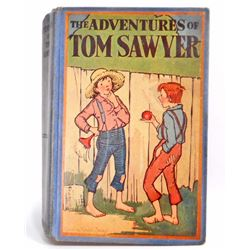 "VINTAGE 1921 1ST ED. ""THE ADVENTURES OF TOM SAWYER"" HARDCOVER BOOK"